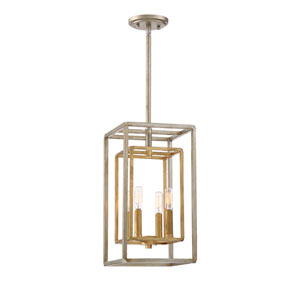 Berlin Argentum and Gold Four-Light Foyer Pendant