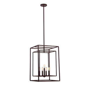 Berlin English Bronze Five-Light Foyer Pendant