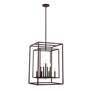 Berlin English Bronze Nine-Light Foyer Pendant