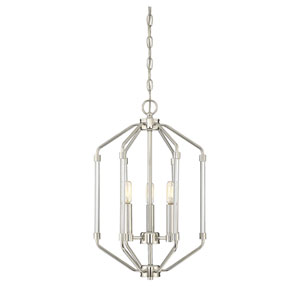 Reed Polished Nickel Three-Light Foyer Pendant
