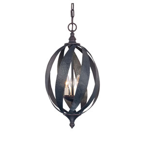 Carmel Slate Three-Light Foyer Pendant