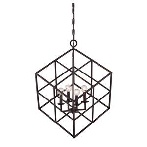 Halston Bronze Four-Light Pendant