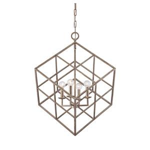 Halston Gray Four-Light Pendant