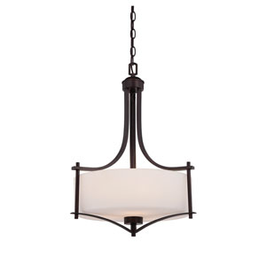 Colton Bronze Three-Light Pendant