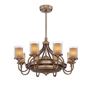 Etesian Bronze Fluorescent Eight Light Ceiling Fan