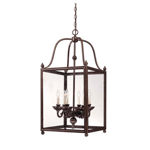 Crabapple Old Bronze Six-Light Lantern Pendant