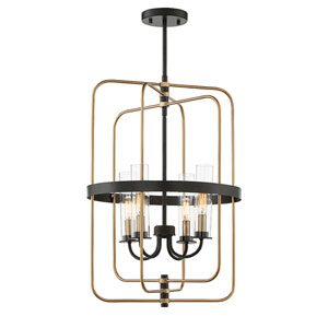 Kearn Vintage Black 23-Inch Four-Light Foyer