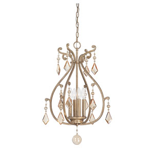 Rothchild Oxidized Silver Four Light Chandelier