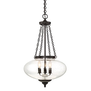 Talbo English Bronze 16-Inch Three-Light Pendant