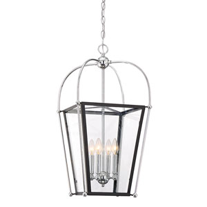 Dunba Matte Black 14-Inch Four-Light Pendant