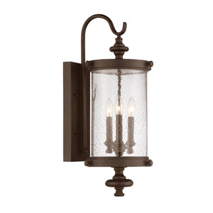 Palmer Walnut Patina Three-Light Outdoor Sconce
