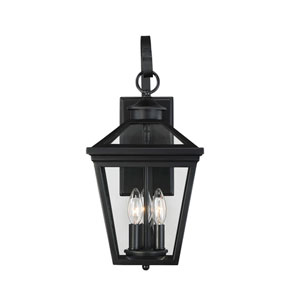 Ellijay Black Three-Light Nine-Inch Outdoor Wall Sconce