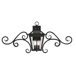 Ellijay Black Three-Light 38-Inch Outdoor Wall Sconce