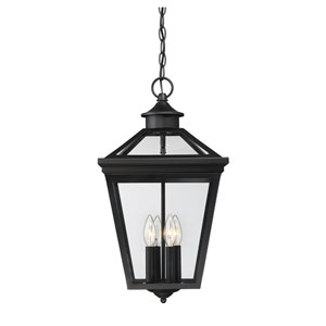 Ellijay Black Four-Light Outdoor Pendant
