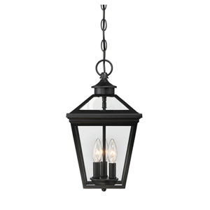 Ellijay Black Three-Light Outdoor Pendant