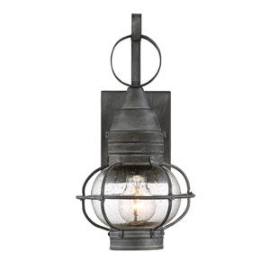 Enfie Oxidized Black 7-Inch One-Light Outdoor Wall Lantern