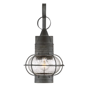 Enfie Oxidized Black 10-Inch One-Light Outdoor Wall Lantern