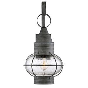 Enfie Oxidized Black 11-Inch One-Light Outdoor Wall Lantern