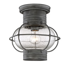 Enfie Oxidized Black 10-Inch One-Light Flush Mount