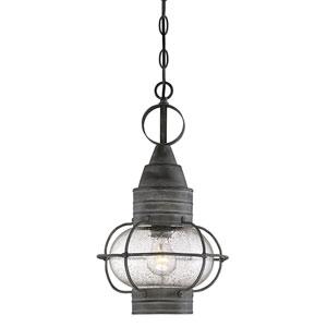 Enfie Oxidized Black 10-Inch One-Light Outdoor Hanging Lantern