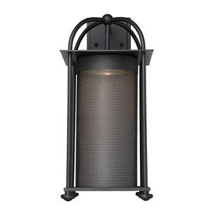 Sierr Black LED 9-Inch Outdoor Wall Lantern
