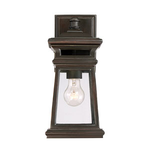 Taylo English Bronze 6-Inch One-Light Outdoor Wall Lantern