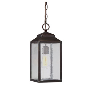 Brennan English Bronze with Gold One-Light Outdoor Pendant