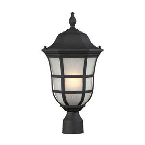 Ashburn Black One-Light Outdoor Post Light