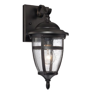Dillon Bronze One-Light 10-Inch Wide Outdoor Wall Lantern