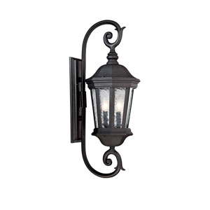 Hampden Black 9.5-Inch Two-Light Outdoor Wall Sconce