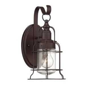 Scout Bronze One-Light 6.5-Inch Wide Outdoor Wall Lantern