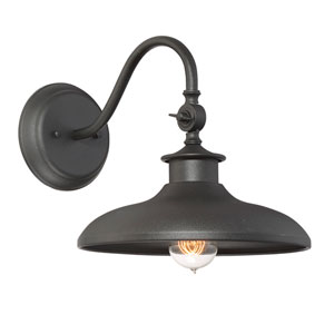 Raliegh Black One-Light Outdoor Sconce