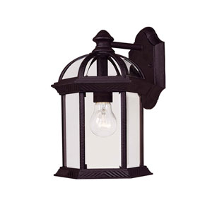 Kensington Large Textured Black Outdoor Wall-Mounted Lantern