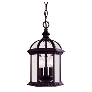 Kensington Large Outdoor Textured Black Hanging Pendant