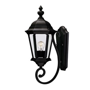 Wakefield Small Textured Black Outdoor Wall-Mounted Lantern