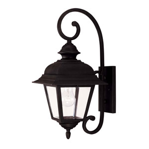 Westover Black Large One-Light Outdoor Wall Mount