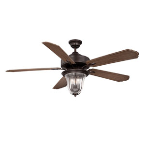 Trudy English Bronze 52-Inch Three-Light Ceiling Fan