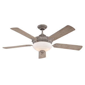 Bristol Aged Wood 52-Inch Two-Light Ceiling Fan