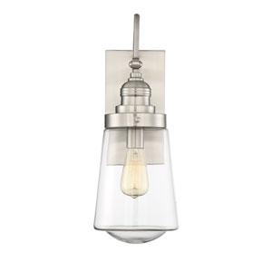 Macauley Satin Nickel 5-Inch One-Light Outdoor Wall Lantern