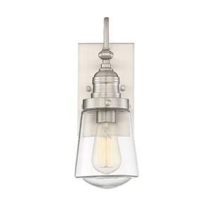 Macauley Satin Nickel 8-Inch One-Light Outdoor Wall Lantern