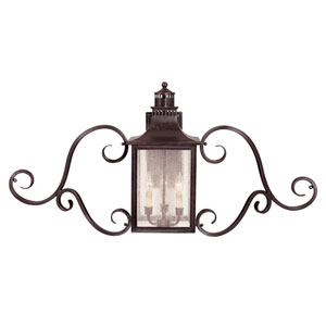 Monte Grande English Bronze Wall Mount Lantern with Scrolls