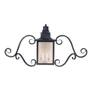 Monte Grande Slate Outdoor Wall Mount Lantern with Scrolls