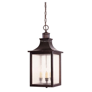 Monte Grande English Bronze Three-Light Lantern Pendant
