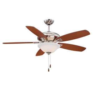 Mystique Chrome and Polished Nickel Three Light Ceiling Fan