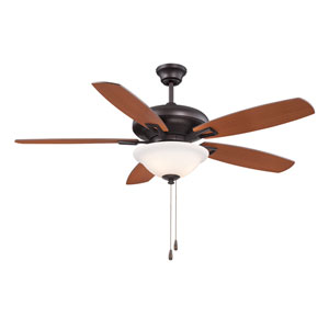 Mystique Bronze Three-Light 52-Inch Ceiling Fan with Five Blades