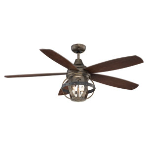 Alsace Wood Three Light Ceiling Fan