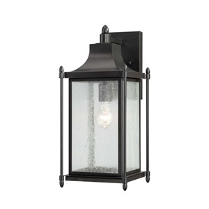 Dunnmore 18-Inch Black Wall Mount Lantern