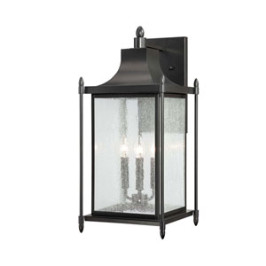 Dunnmore 24-Inch Black Wall Mount Lantern