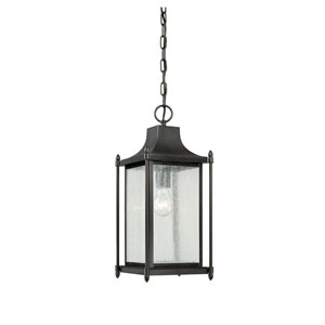 Dunnmore Black One Light Outdoor Pendant