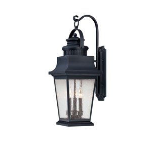 Barrister Slate Three-Light Outdoor Wall Mounted Lantern
